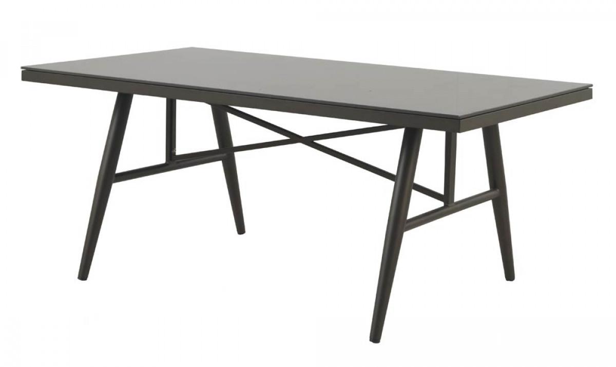 Table Salle À Manger De Jardin Aluminium Et Verre Sven tout Table De Jardin Aluminium Et Verre