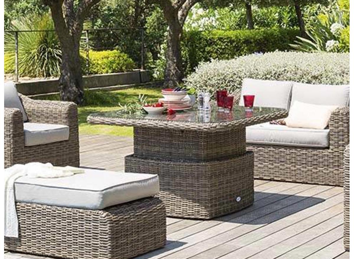 Table / Salon De Jardin Ajustable Modèle Moorea | Hesperide concernant Auchan Salon De Jardin