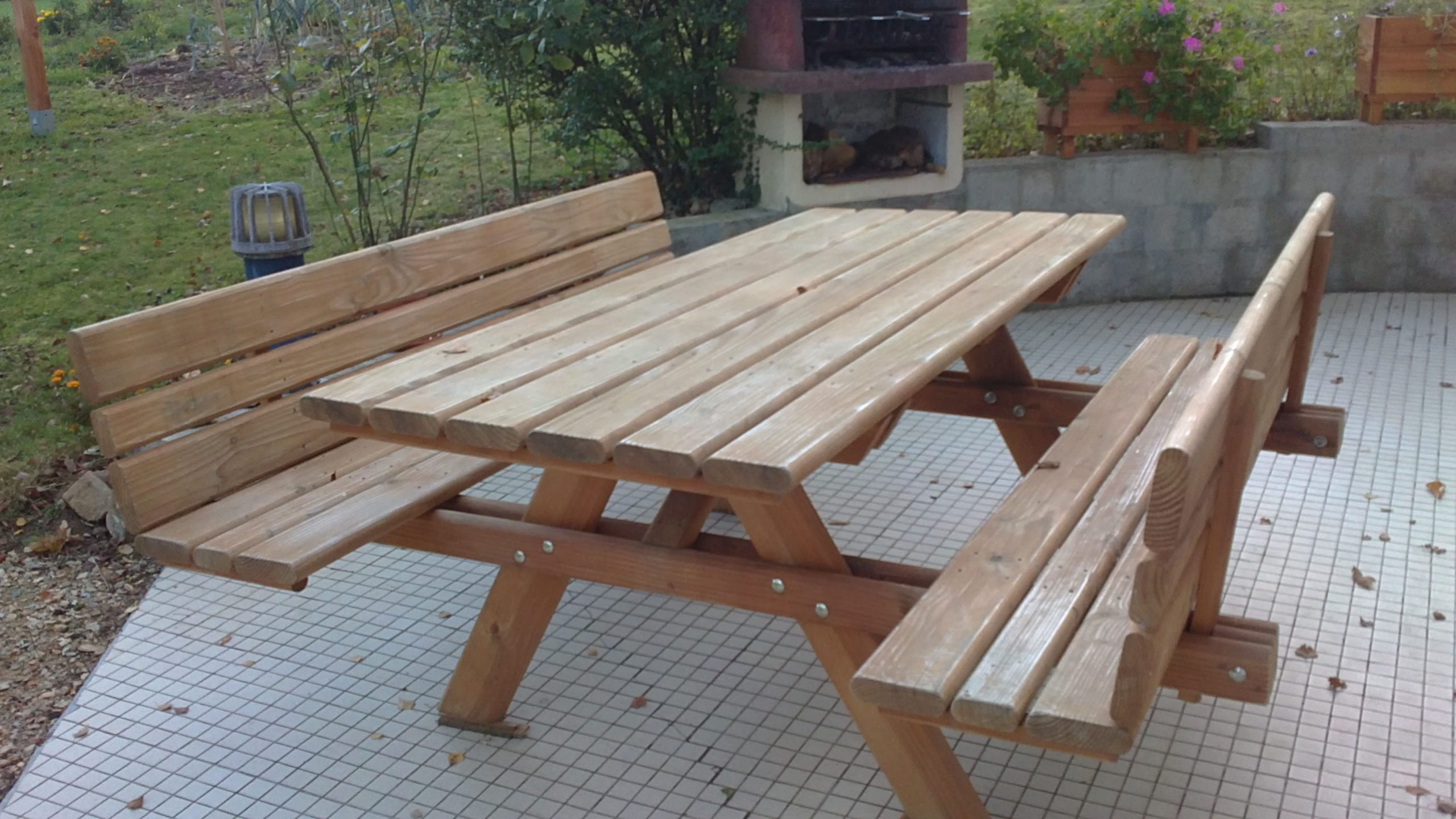 Tables De Jardin En Bois : Scierie Blondy destiné Banc De Jardin Ikea