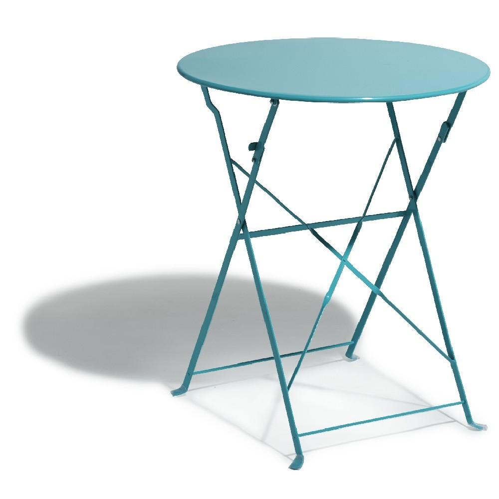 Tables De Jardin Outsunny Table Ronde Pliable Style Fer ... dedans Table Jardin Ceramique