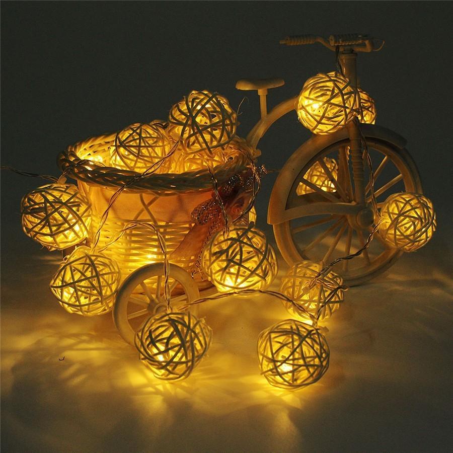 Tanbaby 4.8 M 20 Leds Rgb Güneş Çelenk Lampion Led Rattan ... avec Lampion Jardin