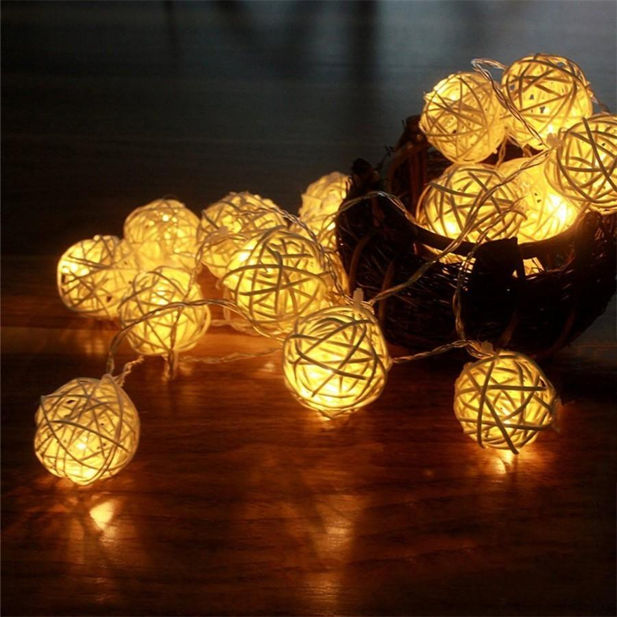 Tanbaby 4.8 M 20 Leds Rgb Güneş Çelenk Lampion Led Rattan ... dedans Lampion Jardin