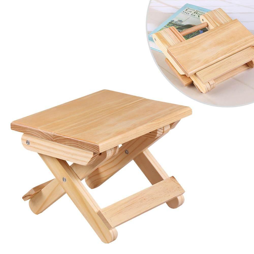 Taşınabilir 24X19X17.8 Cm Plaj Sandalyesi Basit Ahşap Katlanır Tabure Dış  Mekan Mobilyası Balıkçılık Sandalyeler Modern Küçük Dışkı Kamp Sandalyesi avec Table De Jardin Discount