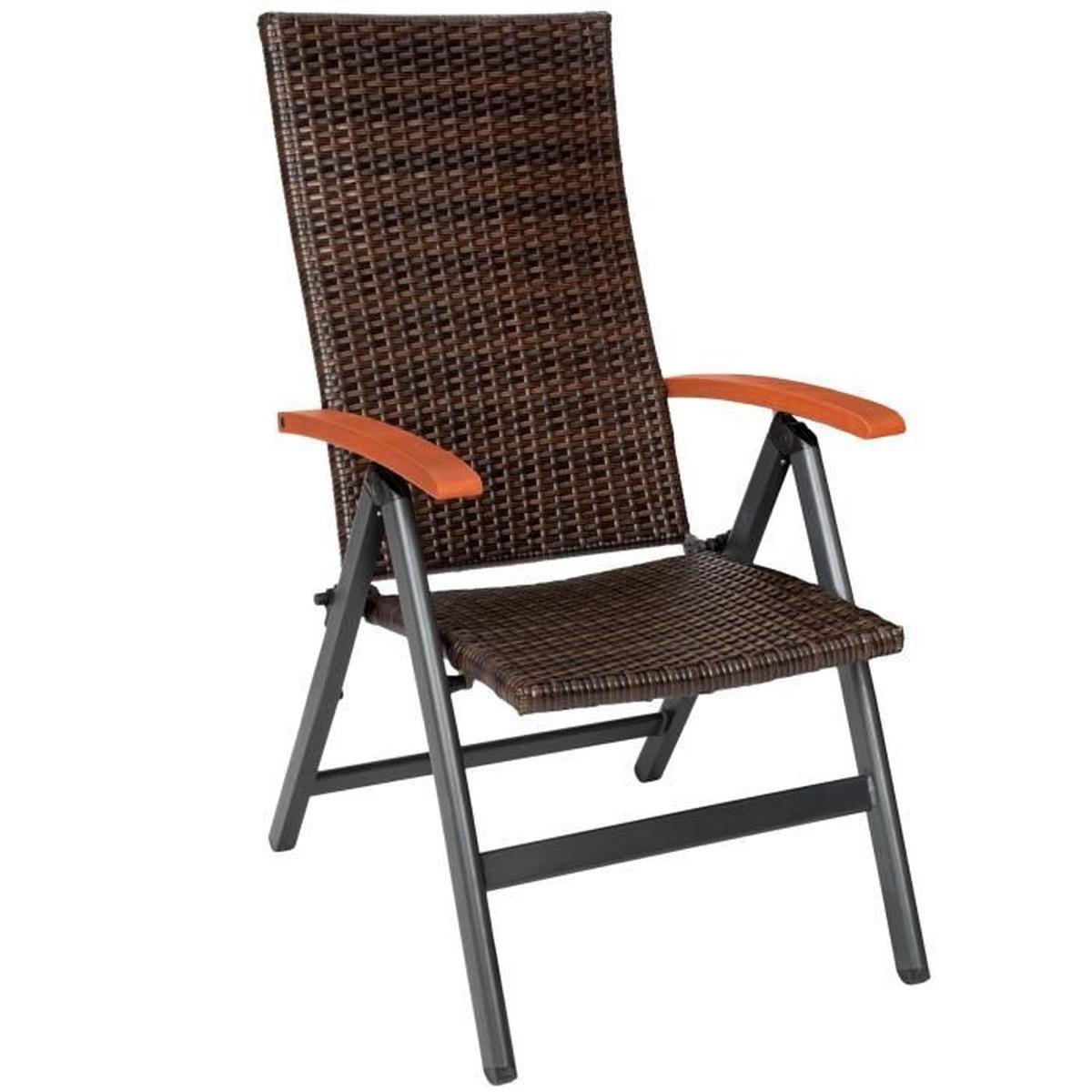 Tectake Chaise De Jardin Pliante Réglable En Aluminium Et ... tout Fauteuil De Jardin Pliant Multiposition