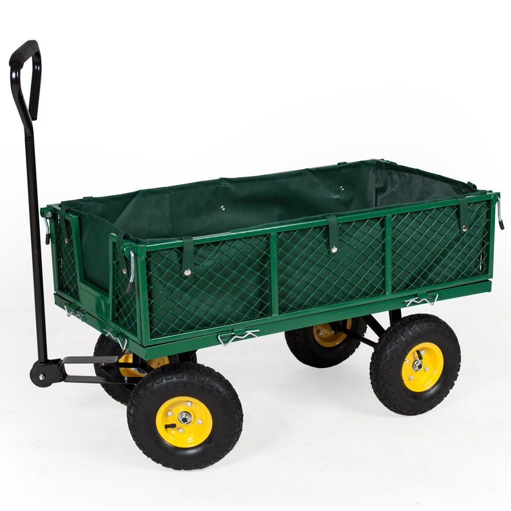 Tectake Chariot De Transport Jardin Remorque À Main ... avec Remorque A Jardin