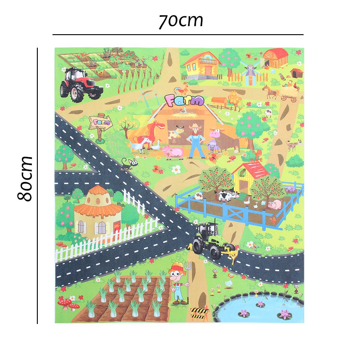 Tempsa 70X80Cm Tapis De Jeu En Tissu Non Tissé Pour Enfants ... intérieur Grand Jardin D Enfant Playmobil