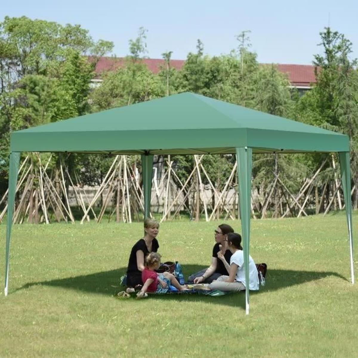 Tente Pavilion Tente De Jardin Pliante Hauteur Réglable Anti ... concernant Tente De Jardin Pas Cher