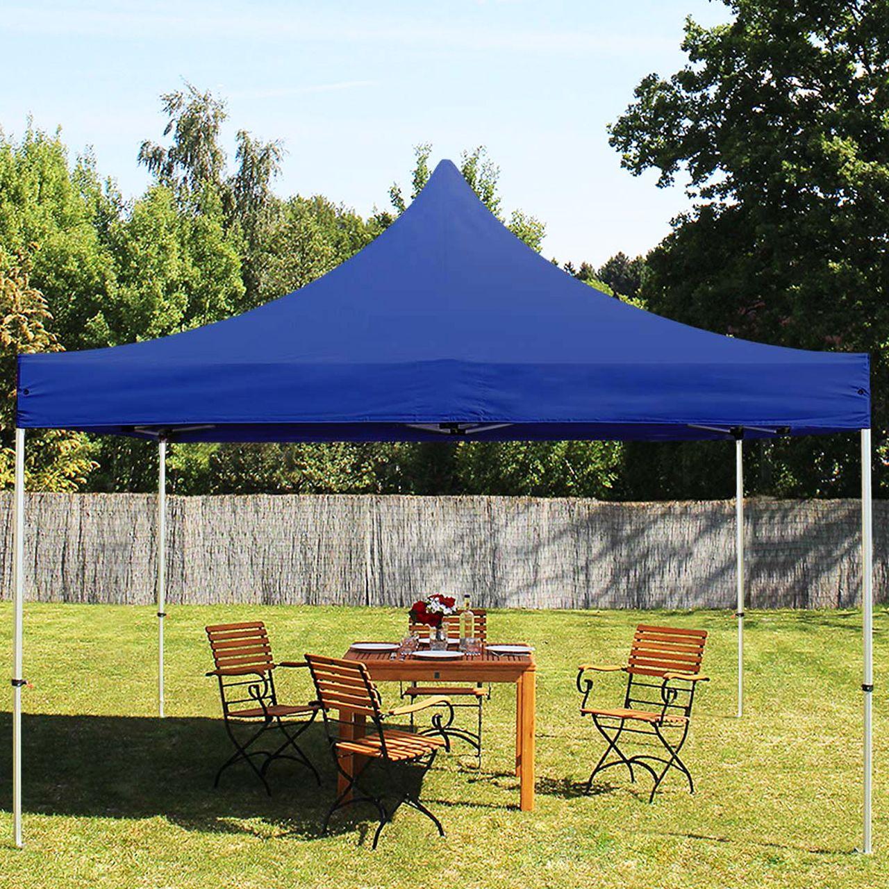 Tente Pliante 4X4M Pes 400 G/m² Bleu Imperméable Barnum Pliant, Tonnelle  Pliante, Tente De Jardin pour Tente De Jardin Pliante