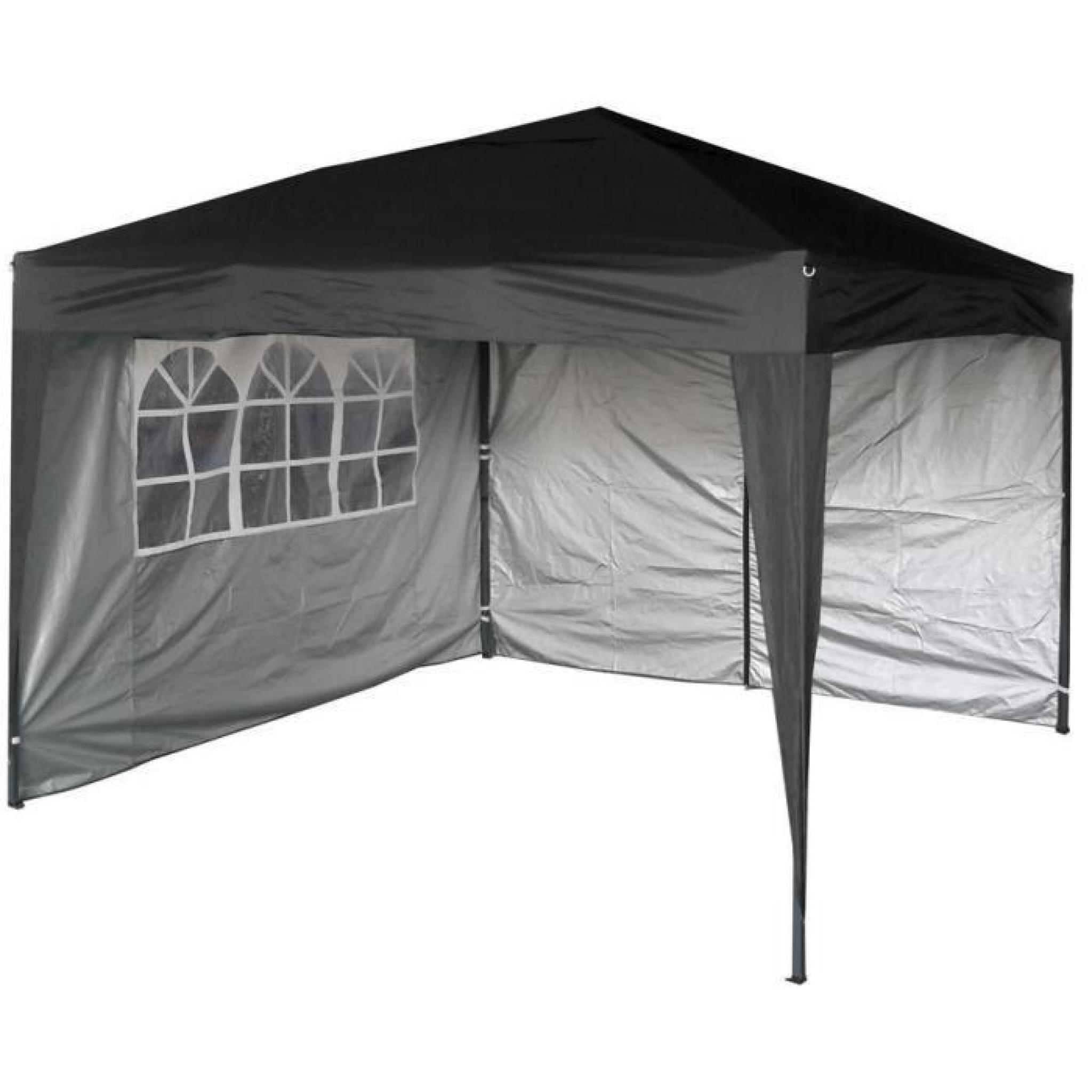 Tente/tonnelle/auvent/abri De Jardin Résistant À L'eau, 3X3M, Avec Couche  Protectrice Argentée, 2 Barres Pare-Vent Et dedans Tente Abris De Jardin