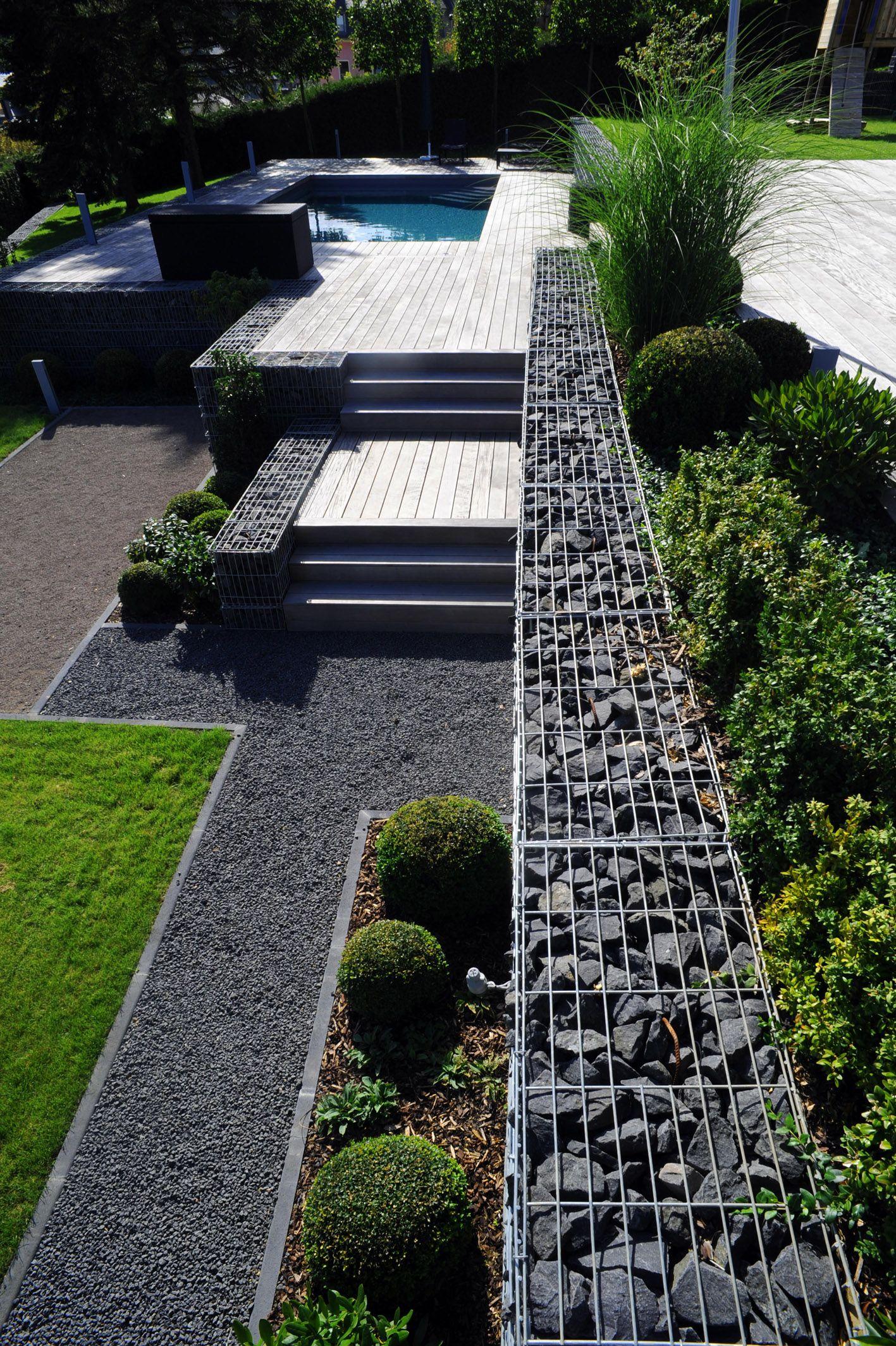 Terrassa - Jardí Decorada Amb Gabions De Pedres | Jardins ... intérieur Gabion Deco Jardin