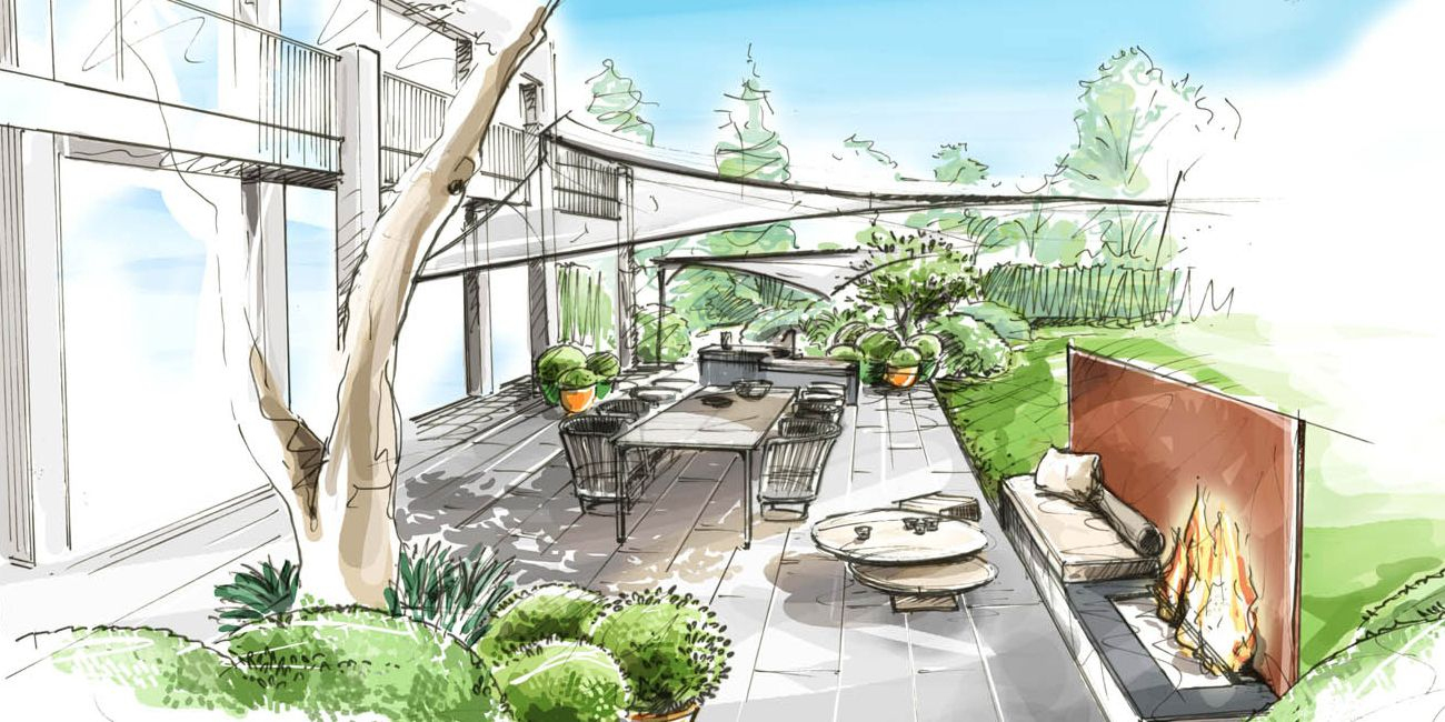 Terrasse Belgique – Bruxelles | Loup&co | Dessin Jardin ... tout Amenagement Jardin Belgique