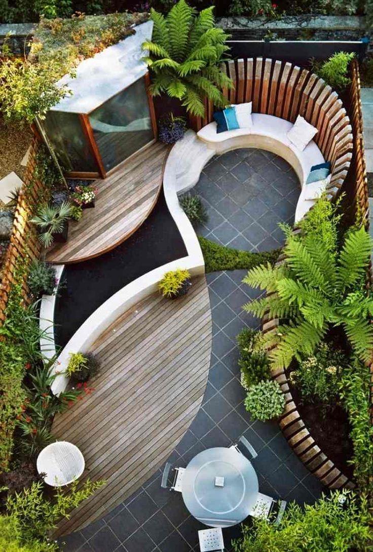 Terrasse De Jardin En Bois- Idées D'aménagement Et Photos ... pour Aménagement D Un Petit Jardin De Ville