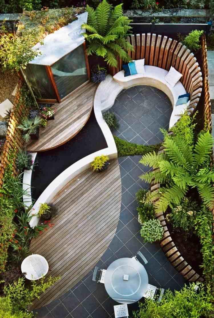 Terrasse De Jardin En Bois- Idées D'aménagement Et Photos tout Idée D Aménagement De Jardin