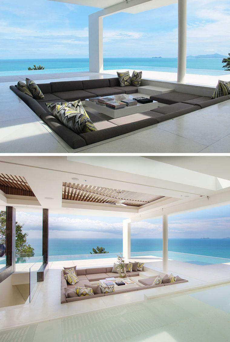 Terrasse Design Idee Salon Mobilier Puit Conversation ... pour Salon De Jardin Design Luxe