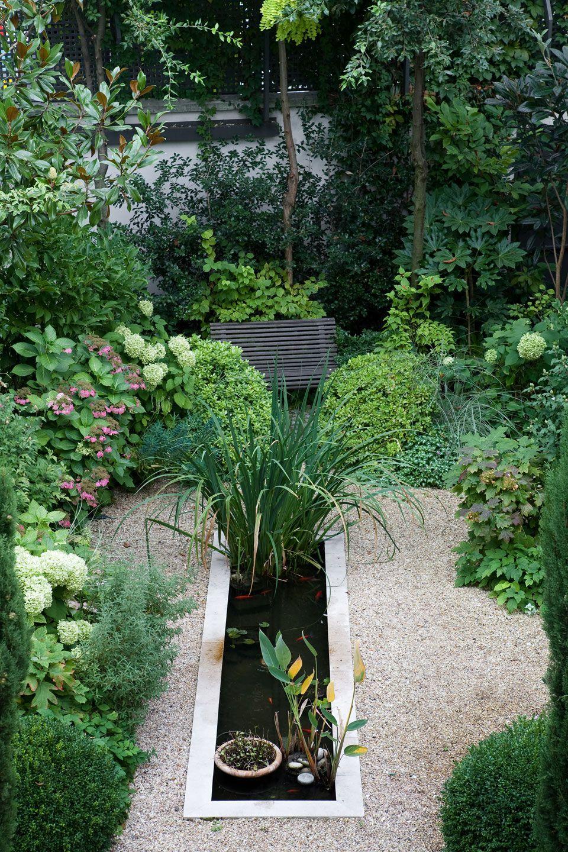 Terrasse En Rez De Jardin À Paris 16   Bassin De Jardin ... pour Bassin Pour Petit Jardin