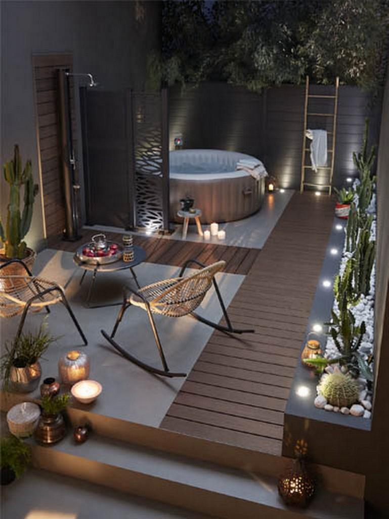 Terrasse Pour Jacuzzi Gonflable | Enredada concernant Terrase De Jardin