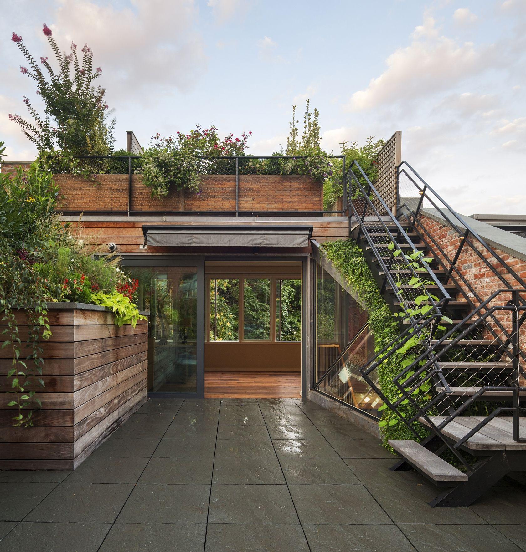 Terraza Verde Encima Salon | Techos Jardin, Jardines En La ... intérieur Casa Salon De Jardin