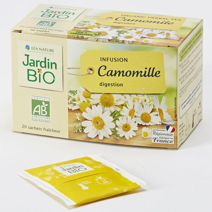 Test Jardin Bio (Léa Nature) Infusion Camomille Digestion ... à Jardin Bio Infusion