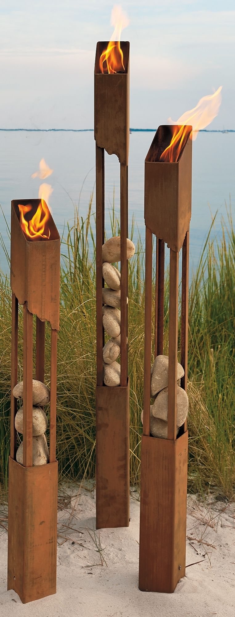 The Raw, Artistic Feel Of Our Mesa Torches Will Fill Any ... pour Torches De Jardin