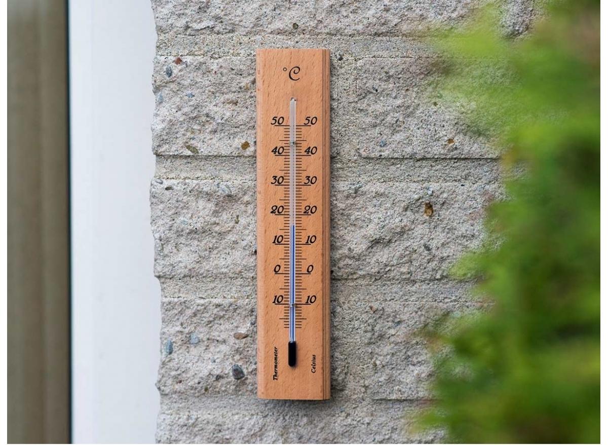 Thermomètre De Jardin En Bois - Nature à Thermometre De Jardin