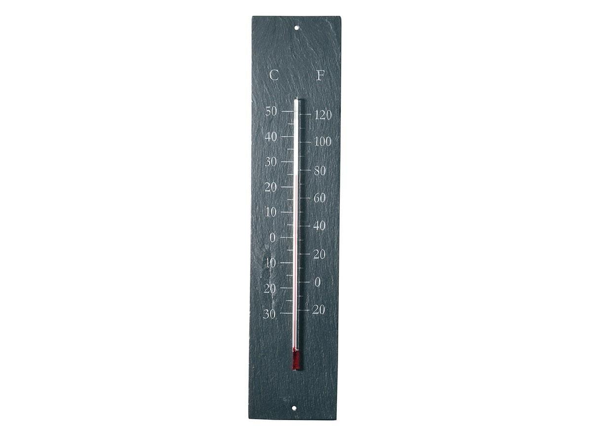 Thermomètre De Jardin En Schiste dedans Thermometre De Jardin