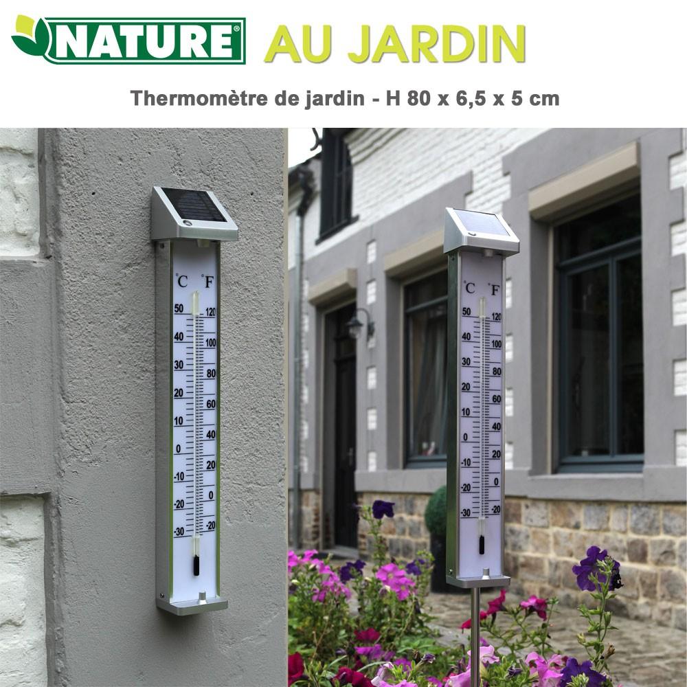 Thermomètre De Jardin Kelvin Solar 2 - H 80 X 6,5 X 5 Cm pour Thermometre De Jardin