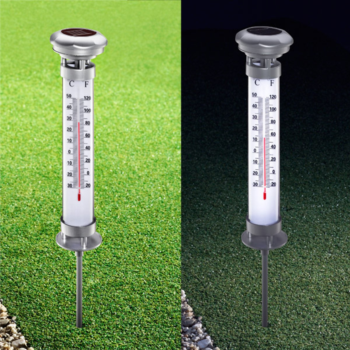 Thermomètre Solaire tout Thermometre De Jardin