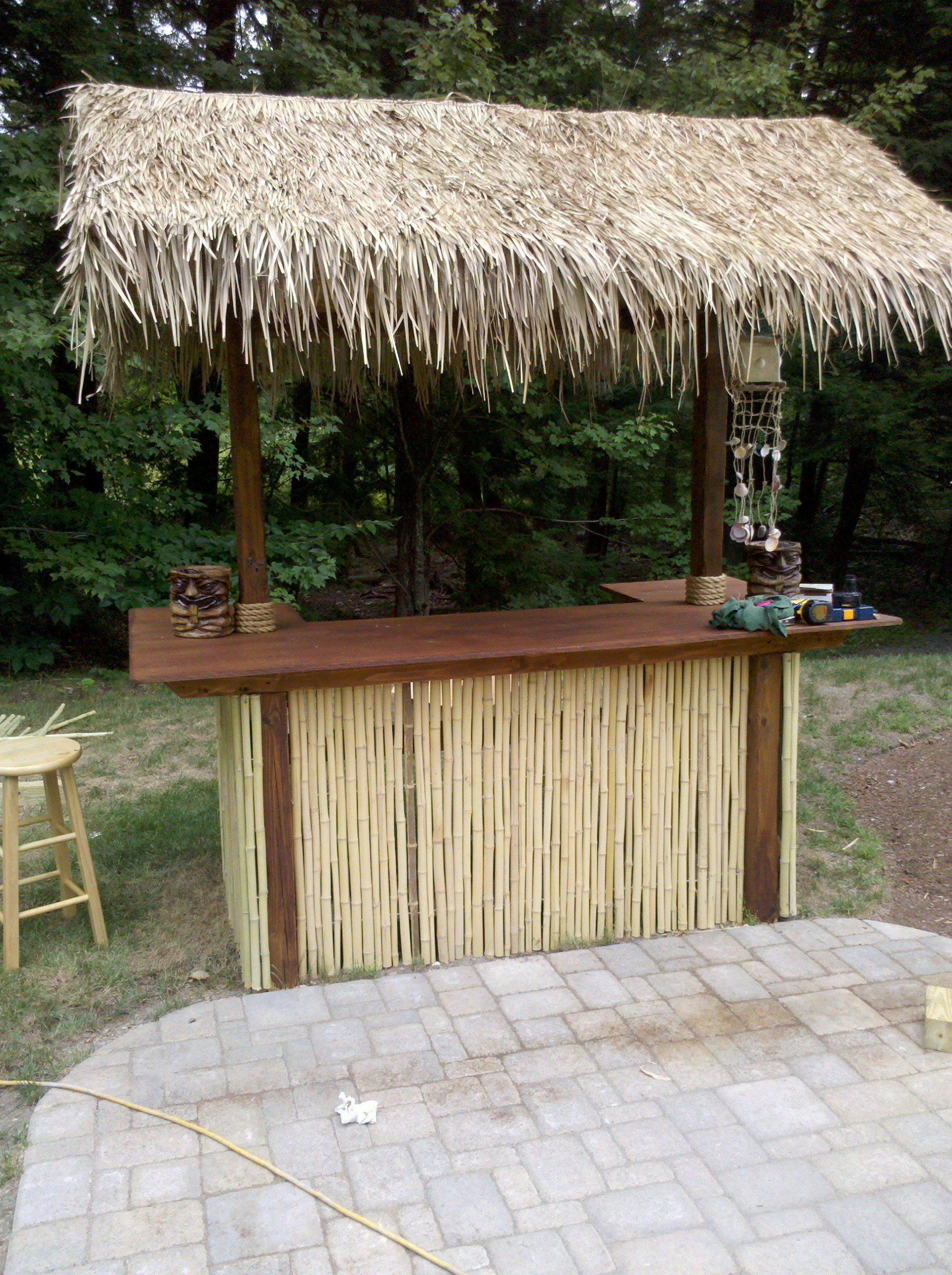 Tiki Bar | Bar Exterieur, Bar Jardin, Patio intérieur Paillote De Jardin