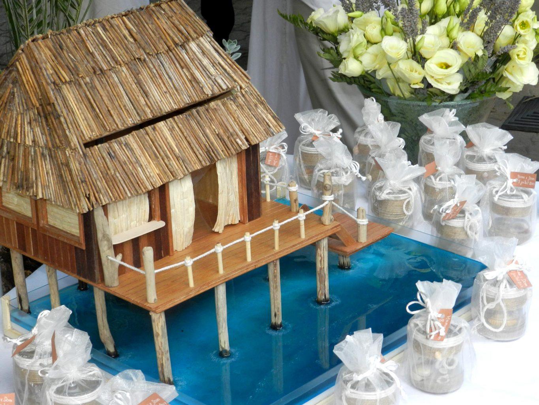 Tirelire Paillote Pour Mariage – Caramel & Chamallow destiné Paillote Jardin