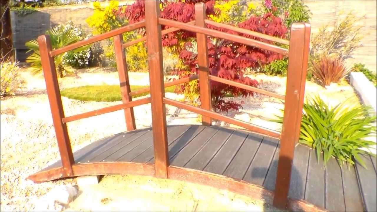 To Create A Japanese Garden, Creer Un Jardin Japonais(Fabriquer Un Pont) intérieur Pont En Bois Pour Jardin