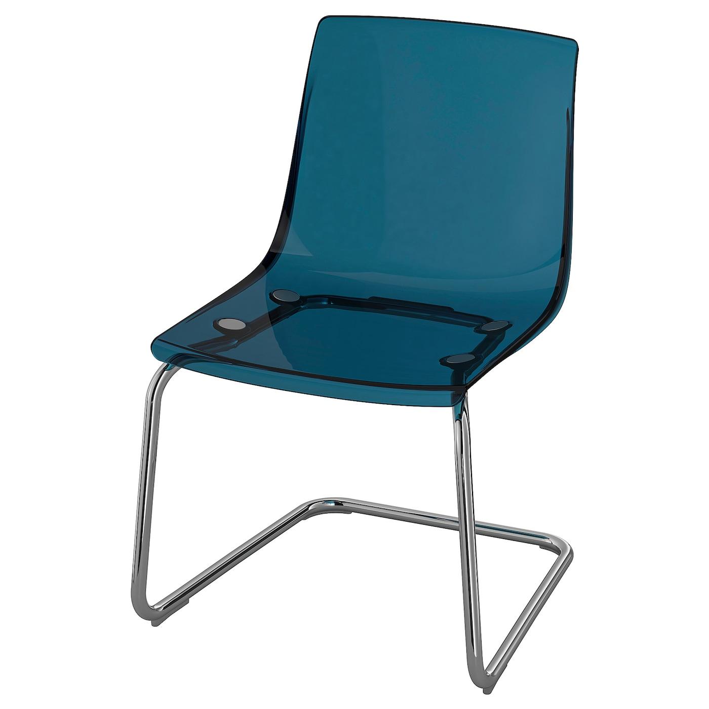 Tobias Chaise - Bleu, Chromé serapportantà Mobilier De Jardin Ikea