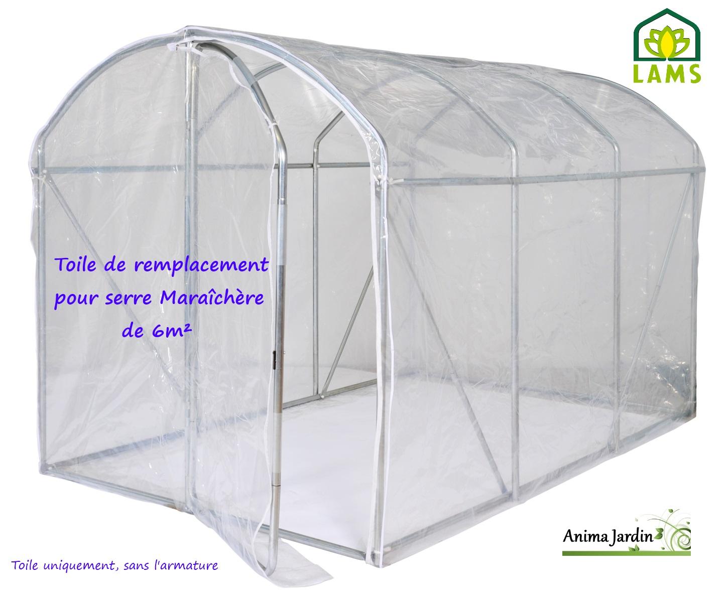 Toile De Remplacement Serre Maraîchère 6M², Lams, Bâche avec Bache De Serre De Jardin