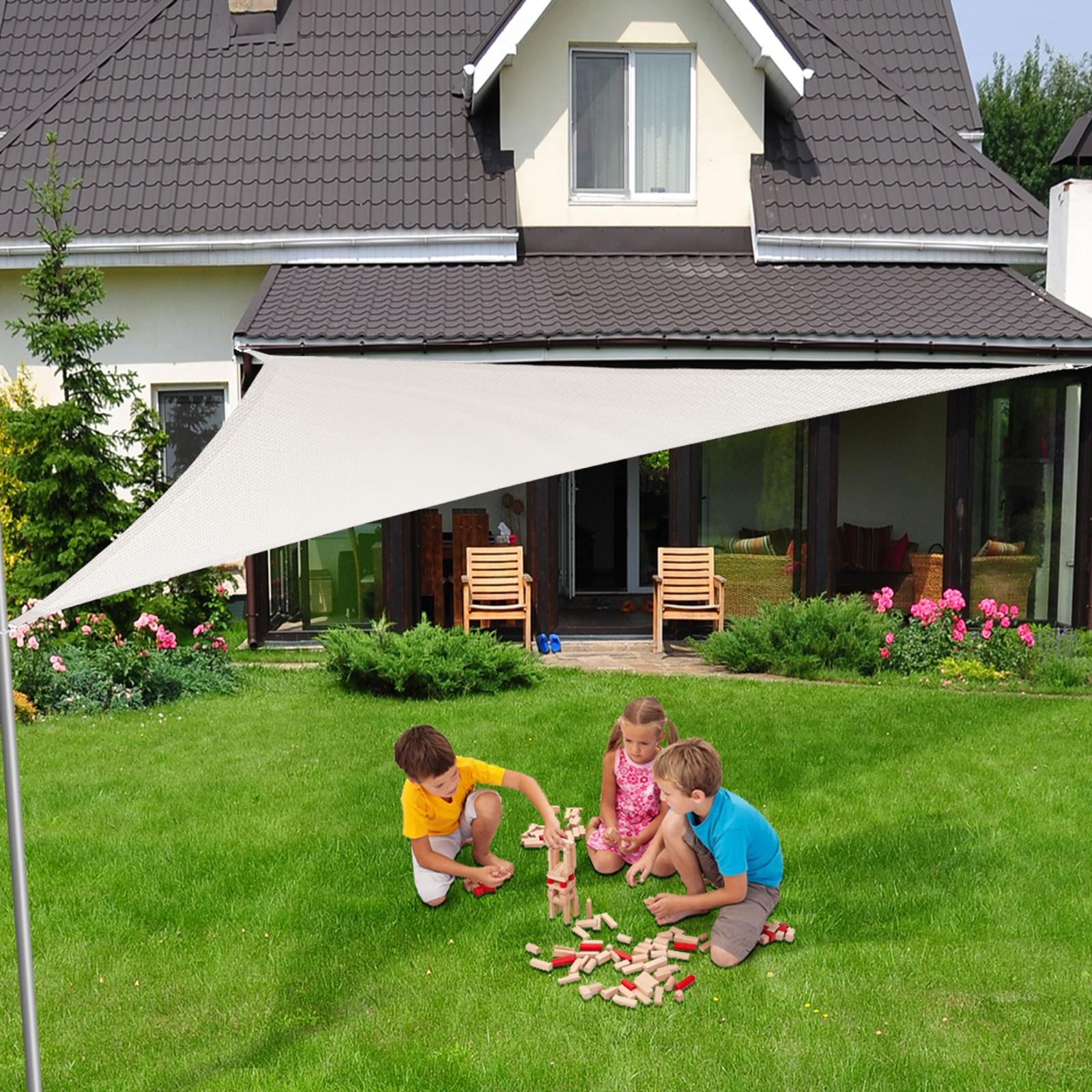 Toiles D'ombrage Triangle - Vous Protège Des Uv Et De La Pluie dedans Toile Jardin Triangle
