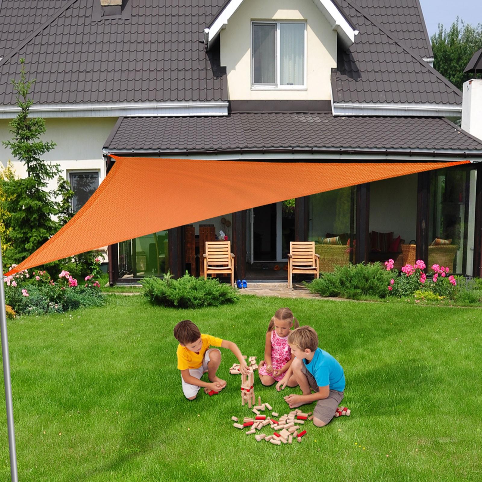 Toiles D'ombrage Triangle - Vous Protège Des Uv Et De La Pluie intérieur Toile Triangle Jardin