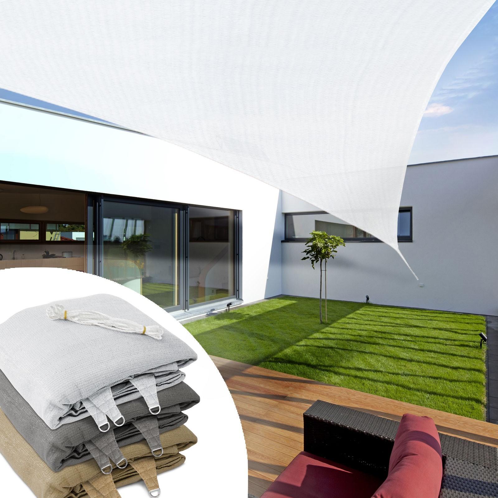 Toiles Tendues Pour Jardin, Balcon, Terrasse - Protection Anti Uv encequiconcerne Toile Tendue Jardin