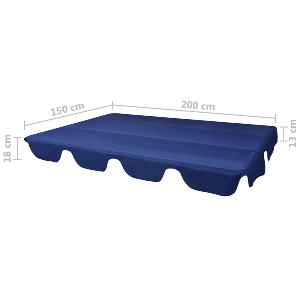 Toit De Rechange Pour Balançoire De Jardin Bleu 226 X 186 Cm ... tout Toit De Remplacement Pour Balancelle De Jardin