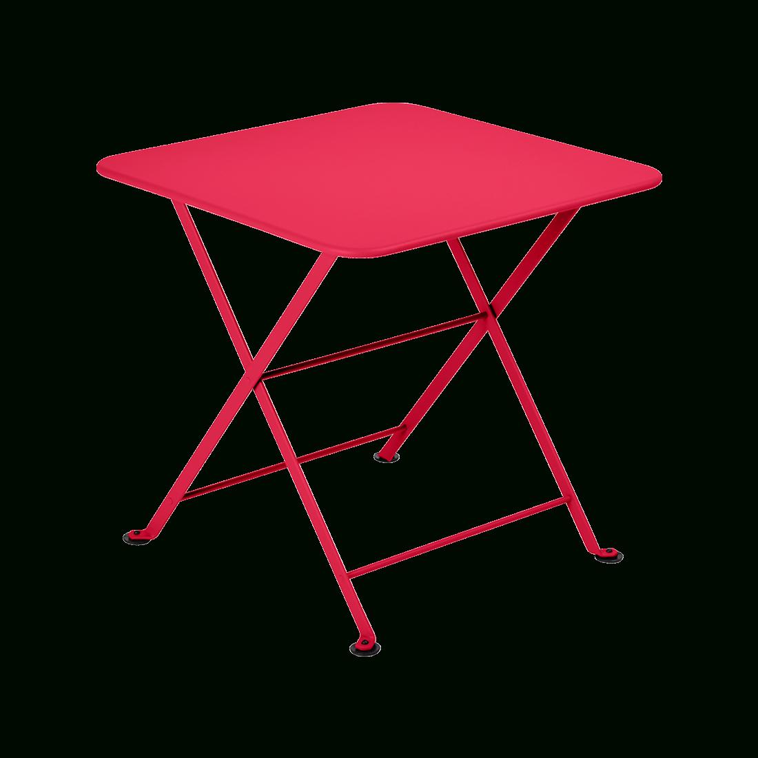 Tom Pouce Square Table, Metal Table For Child dedans Table Jardin Rose