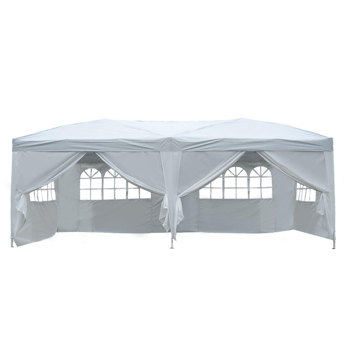 Tonnelle 3X6 M Blanche | Tente Reception, Tentes Et Tente ... dedans Tente De Jardin Pliante