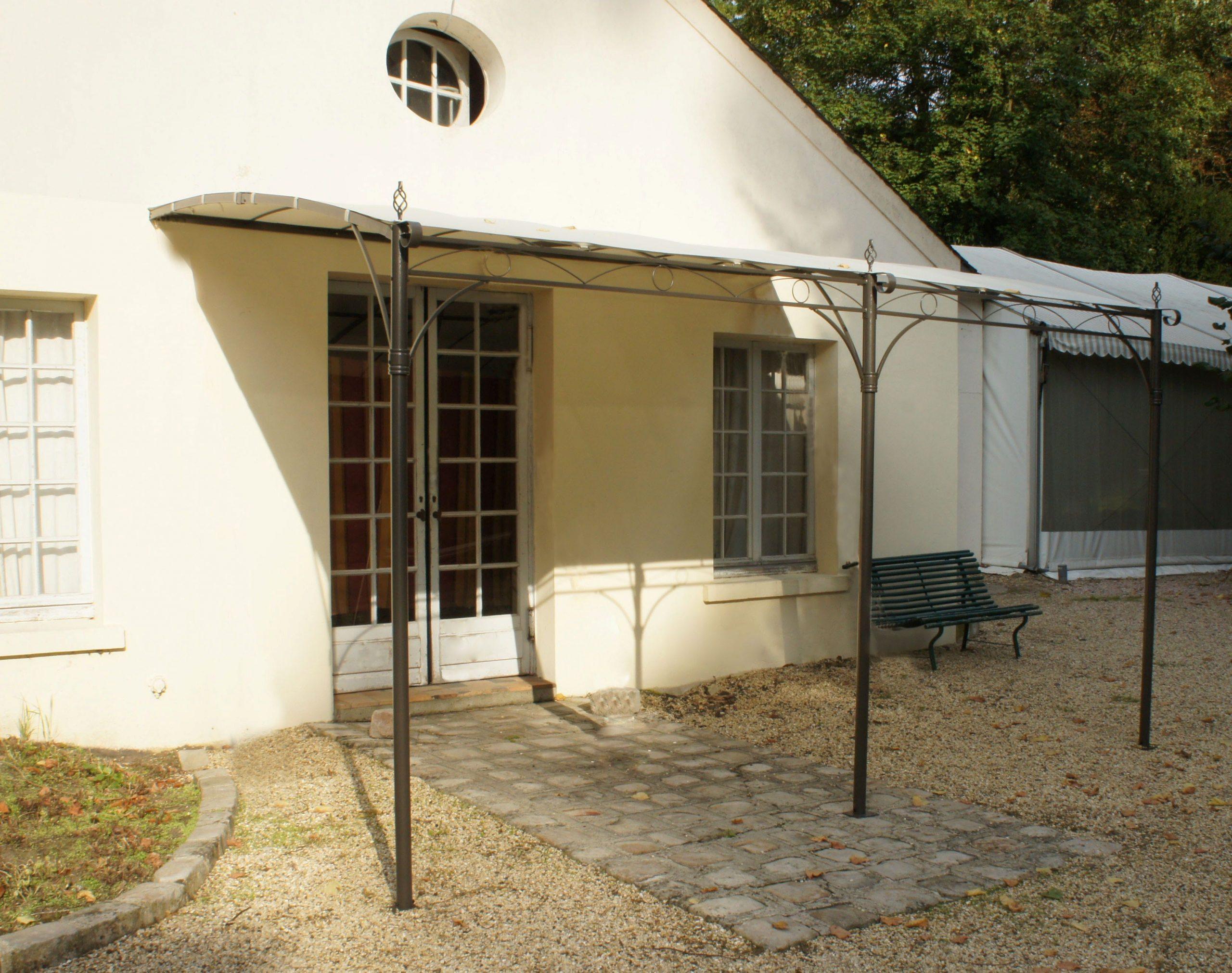 Tonnelle De Jardin Adossée Murale Capri 3X4 M - Avec Toile ... destiné Tonnelle De Jardin Adossée