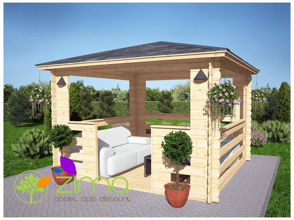 Tonnelle En Bois 9M² pour Tonnelle De Jardin En Bois