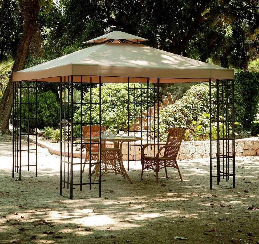 Tonnelle En Fer Forgé 3×3   Belvédère, Gazebo De Patio Et ... serapportantà Tonnelle De Jardin Fer Forgé