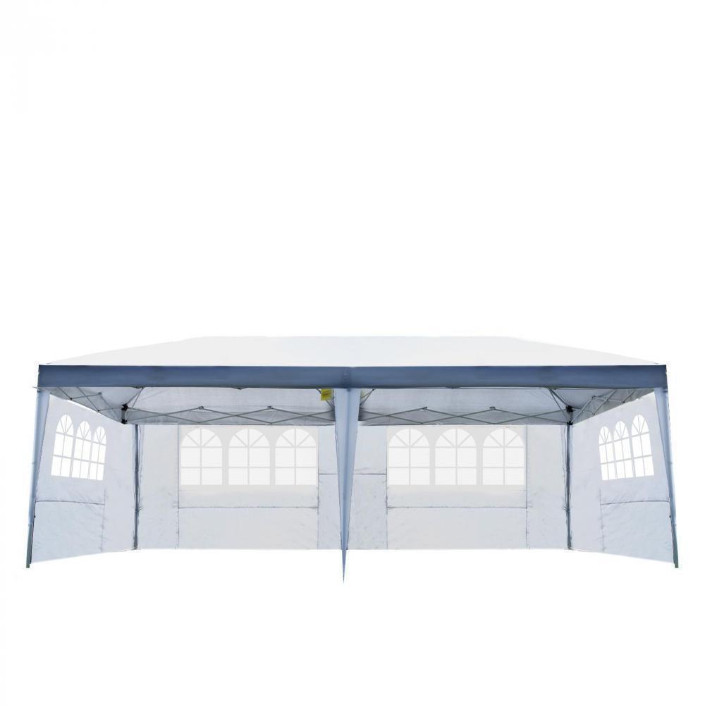 Tonnelle Tente De Reception Pliante Pavillon Chapiteau Barnum 3X6M Blanc  Cotes Demontables concernant Tonnelle De Jardin Gifi