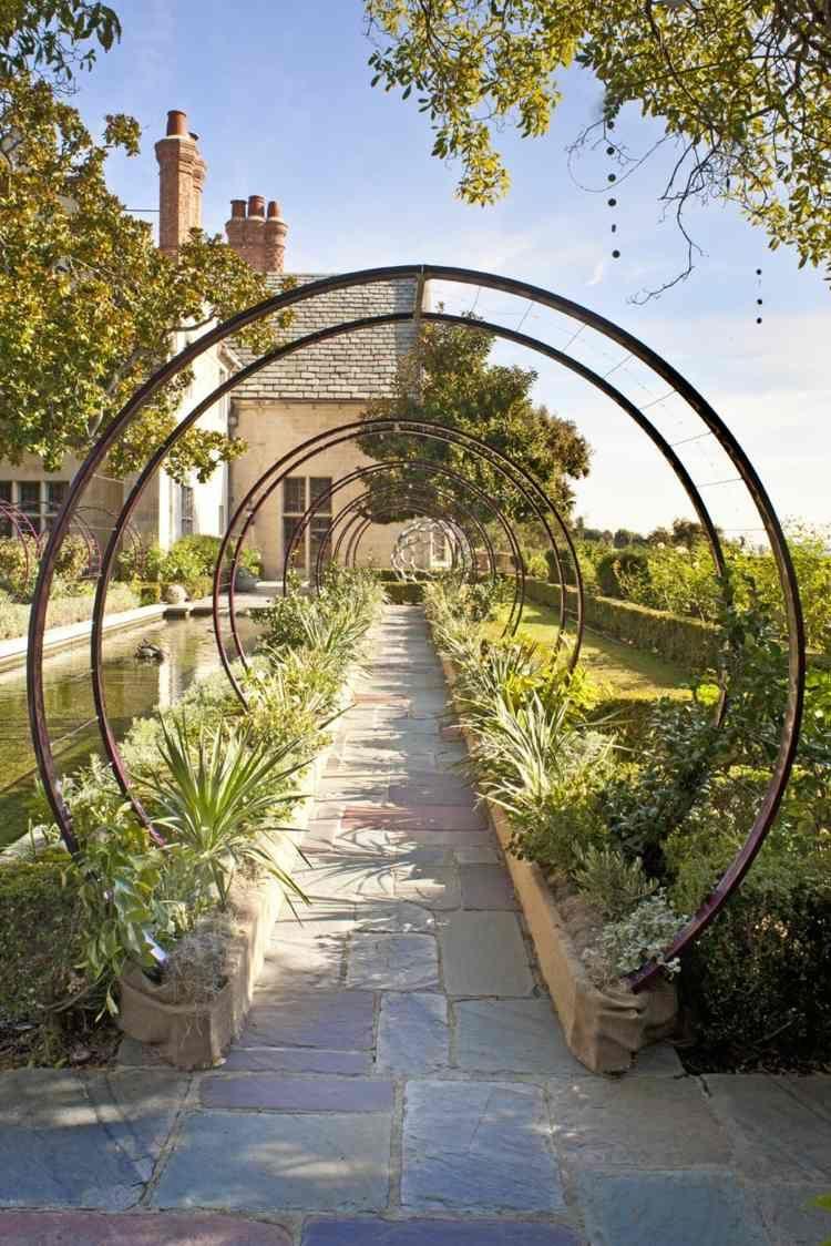 Tonnelles De Jardin En Fer De Forme Ronde   Tonnelle Jardin ... destiné Arche De Jardin En Fer