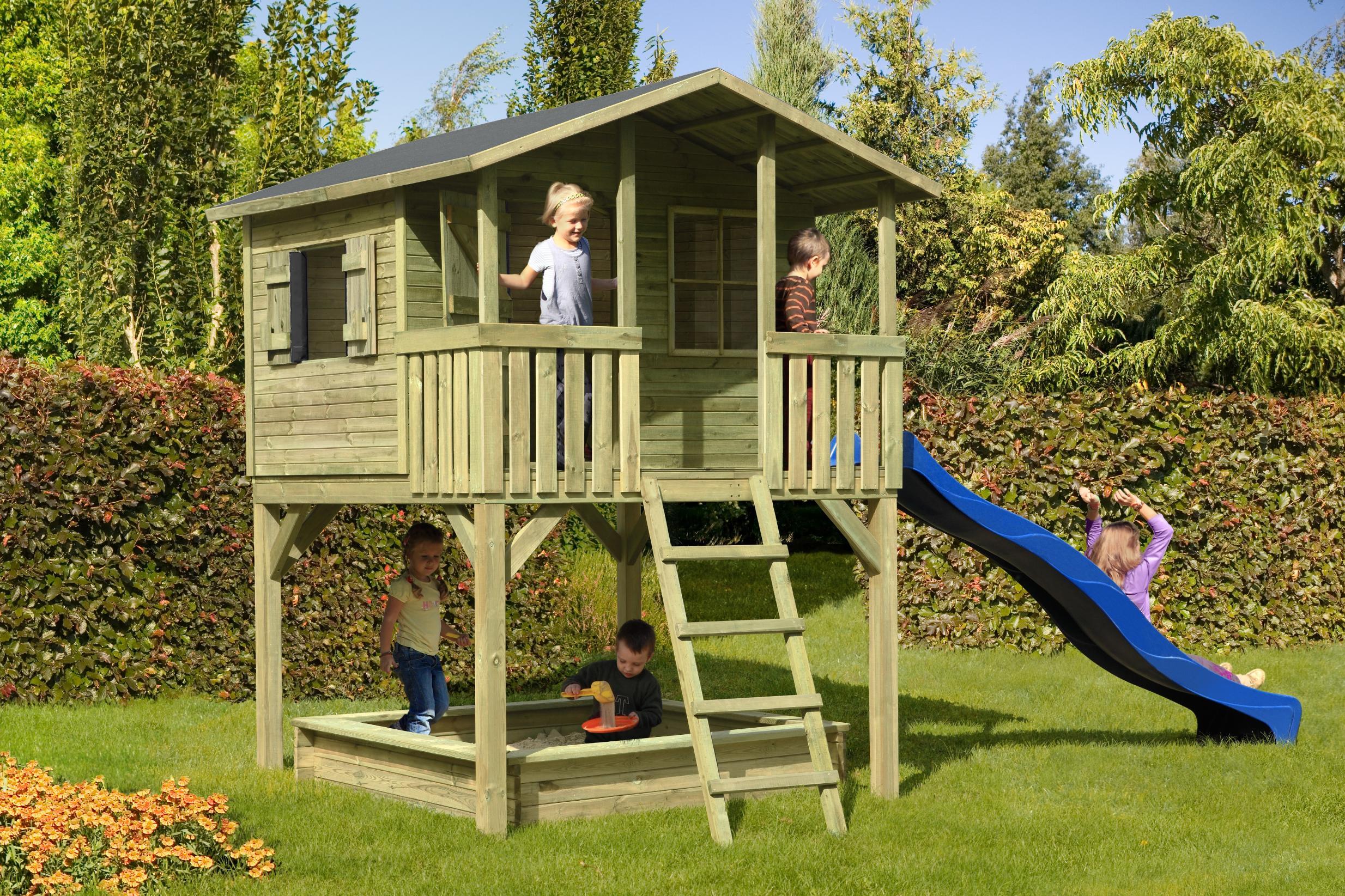Top 13 => Meilleure Cabane & Maisonnette En Bois Pour Enfant ... dedans Cabanne Jardin Enfant