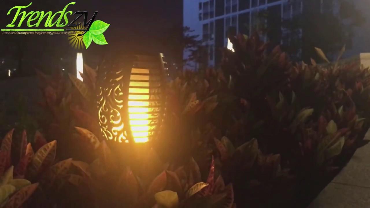 Torches Solaires De Jardin Effet De Flamme Réaliste ★ pour Torches De Jardin