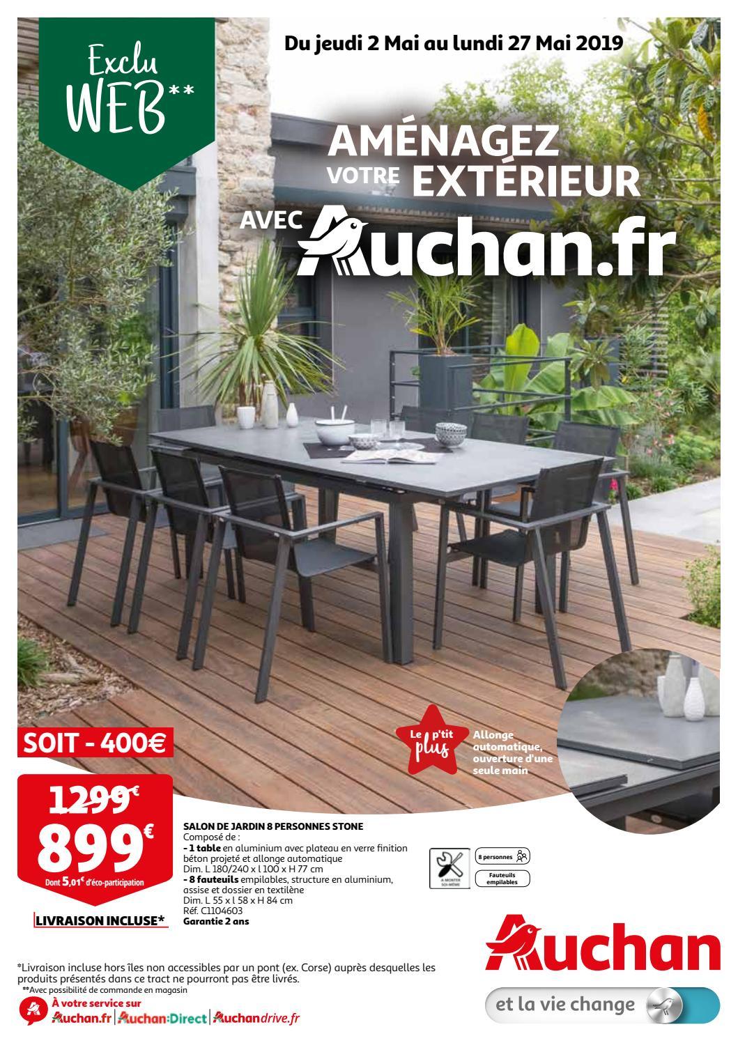 Tract Exclu Web - 2 Mai Au 27 Mai 2019 By Auchan Saint-Omer ... destiné Tonnelle De Jardin Auchan