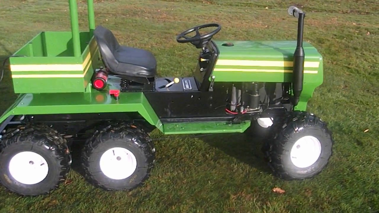 Tracteur Tondeuse Modifier Et Sa Remorque / Tractor Mower Modify And Its  Trailer tout Remorque A Jardin