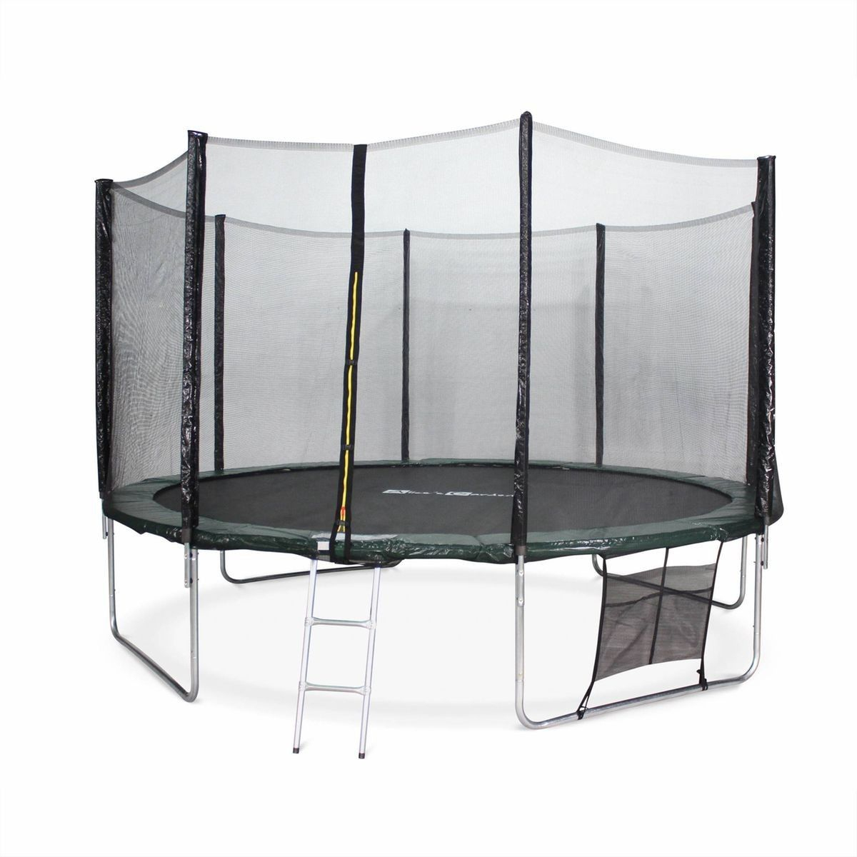 Trampoline De Jardin Mercure Xxl 400Cm Vert Et Filet De ... intérieur Filet De Protection Jardin