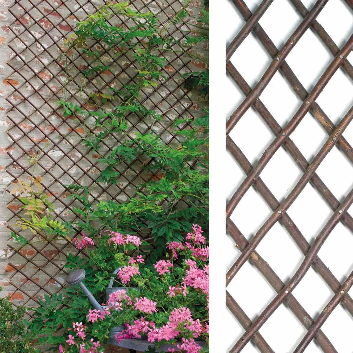 Treillage Extensible En Osier 1M X 2M encequiconcerne Treillis Bois Jardin
