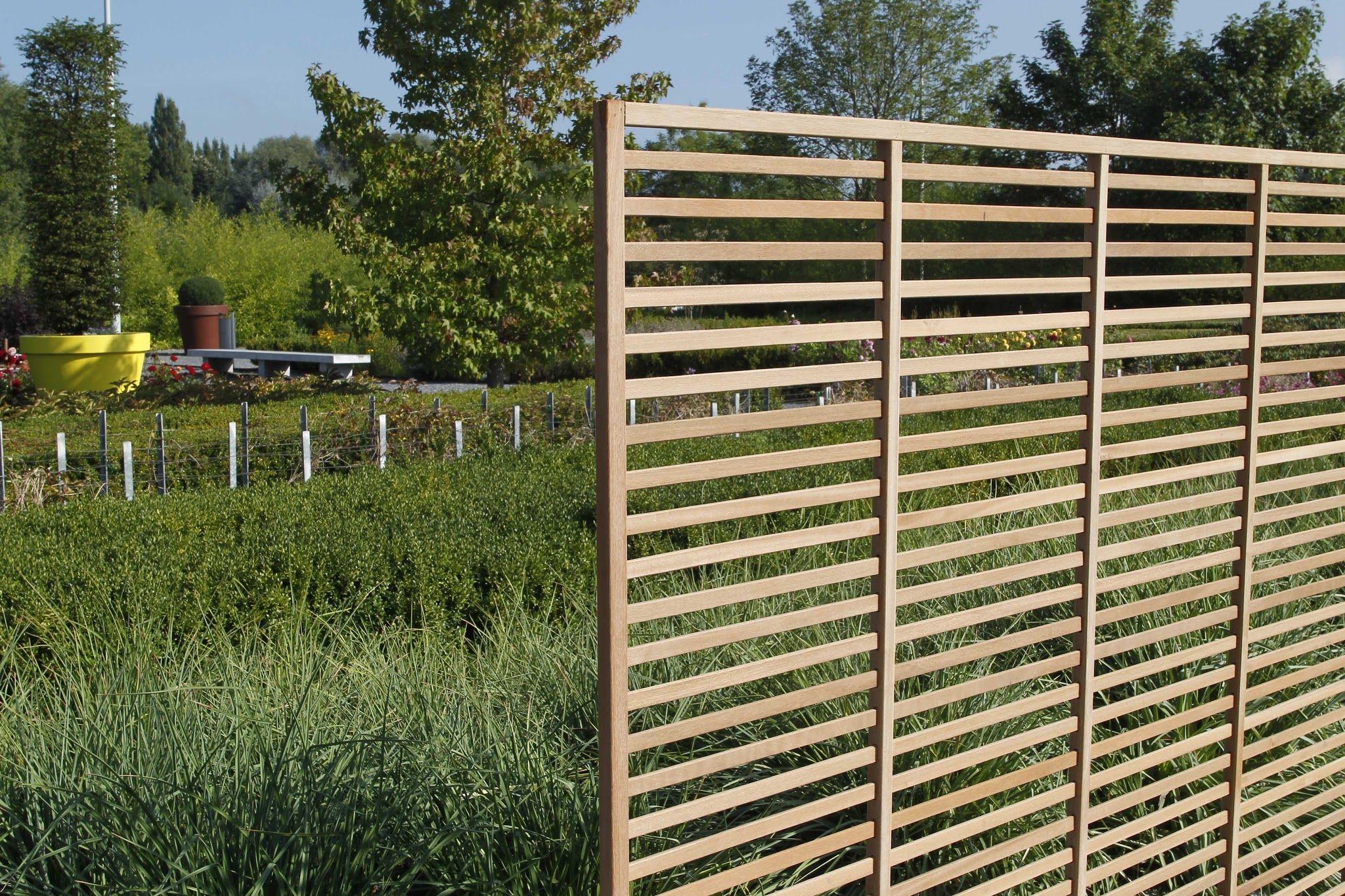 Treillis En Maillage Droit En Bois Exotique | Bois Exotique ... pour Treillis Bois Jardin
